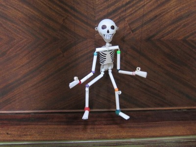 Paper & Plastic Bead Skeleton Marionette Part 2