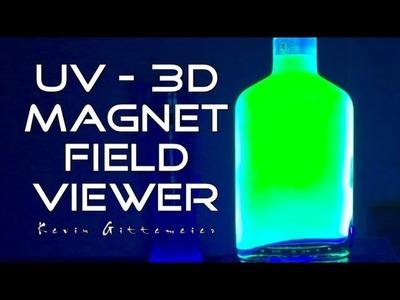 UV Glowing Magnetic Field Viewer - Homemade DIY