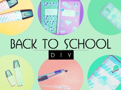 Back to School DIY ! Pens, Highlighters, Notebooks and Cover for Smartphone !