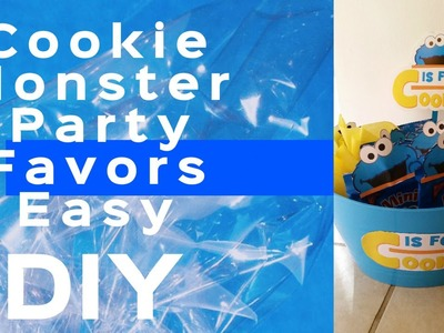 Cookie Monster Themed Party Favors DIY UNDER $15 Dollar Tree