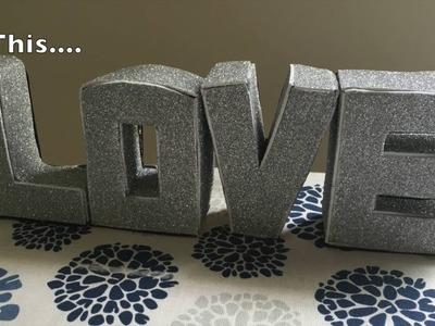 DIY - 3D Cardboard Letters - DIY Gift to your Spouse.Boyfriend.Girlfriend