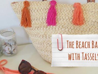 DIY BEACH BAG WITH TASSELS   More_Eli