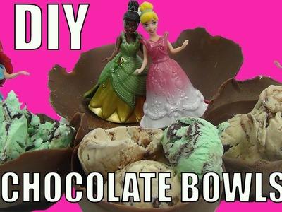 DIY Chocolate Ice Cream Bowls With Your Favorite Disney Princesses