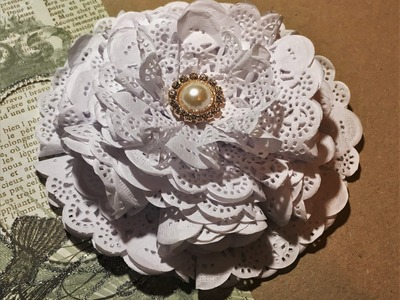DIY how to make a paper doily flower