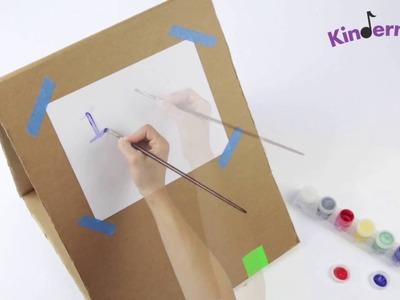 DIY Kids' Cardboard Art Easel | Kindermusik® International