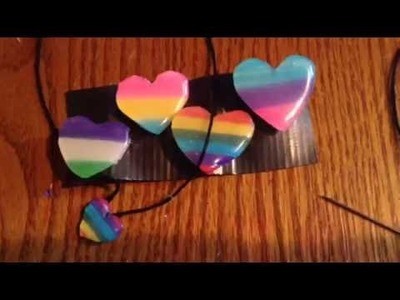 DIY LGBT Pins And Necklace