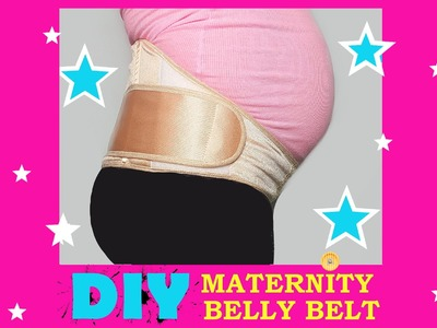 DIY MATERNITY PREGNANCY SUPPORT BELLY BELT - SEWING TUTORIAL (PART 1)