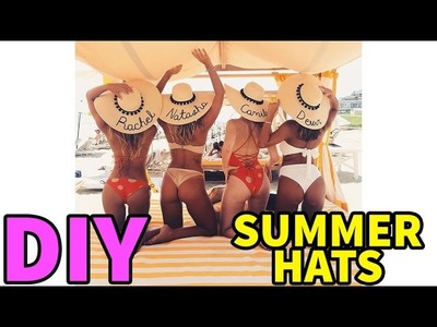 DIY Summer Bridesmaids.Honeymoon Hat