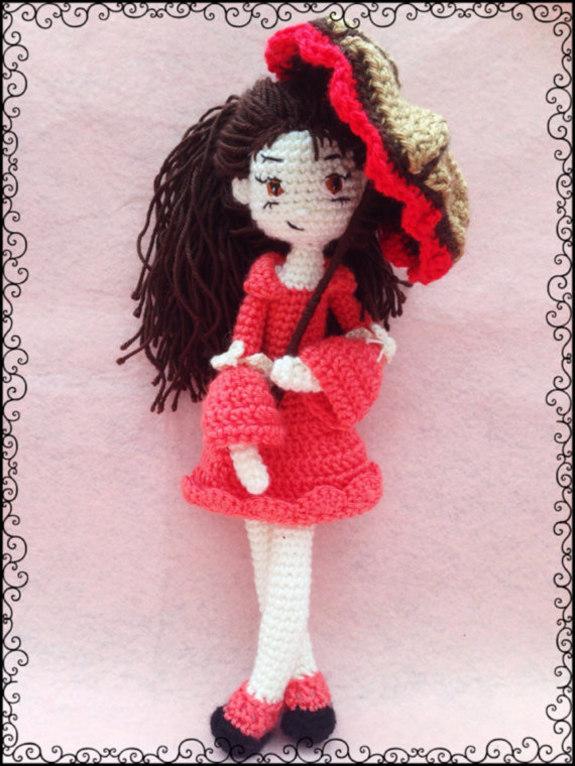 Girl With Umbrella Amigurumi Crochet Pattern - iremdesign ...