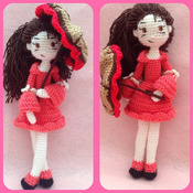 Girl With Umbrella Amigurumi Crochet Pattern