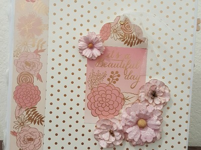 Girly 8x8 mini album. scrapbook album de niña (blush glam)