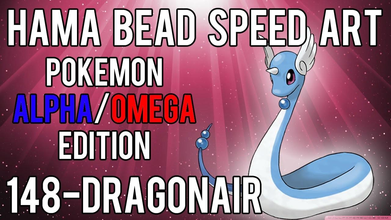 Hama Bead Speed Art | Pokemon | Alpha.Omega | Timelapse | 148 - Dragonair