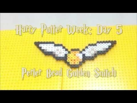 HARRY POTTER WEEK: Perler bead Golden Snitch