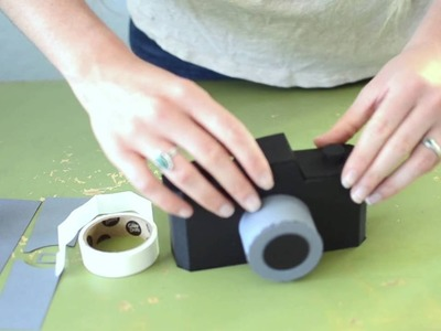 How to Assemble the 3D Paper Camera design from the Silhouette Design Store
