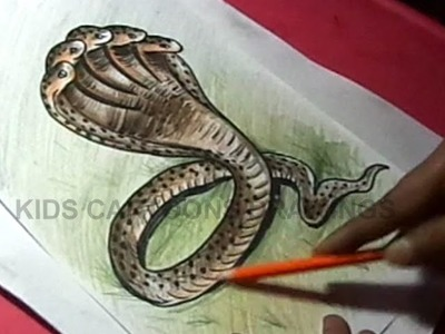 How to Draw five heads snake Detailed Drawing Step by Step
