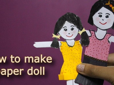 How to make a Paper Doll | Kids' Craft | Craftosphere Episode 1