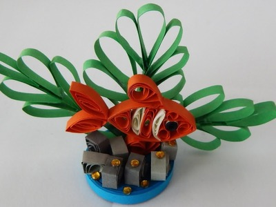 How to make a quilling fish DIY (tutorial + free pattern)