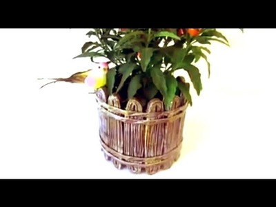 How to make beautiful newspaper basket