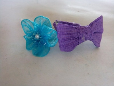 How to Make hairpin for Barbie dolls | Làm kẹp tóc cho búp bê Barbie