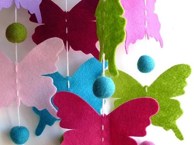 How to make paper glitter butterfly for decoration