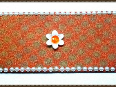 How to make PEARL Decoration Envelope for Raksha Bandhan. DIY Decorate Envelope. Rakhi Special Env