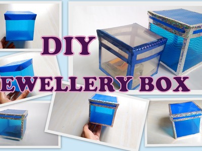 How to make storage. jewellery box from plastic sheets!! DIY 2016 (Redefine craft)