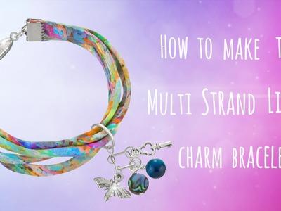 How to make this simple Liberty ribbon multi strand bracelet (056)