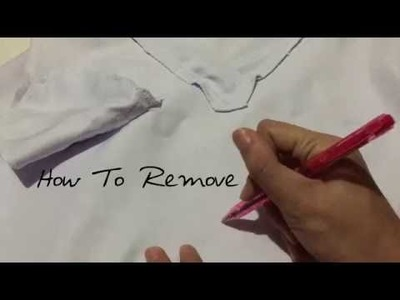 How to remove ink stains on your nurse white uniform