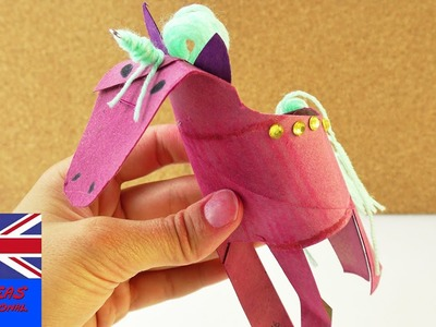 Make a Unicorn out of an Empty Kitchen Paper Roll - Unicorn Power |  Crafts with kids
