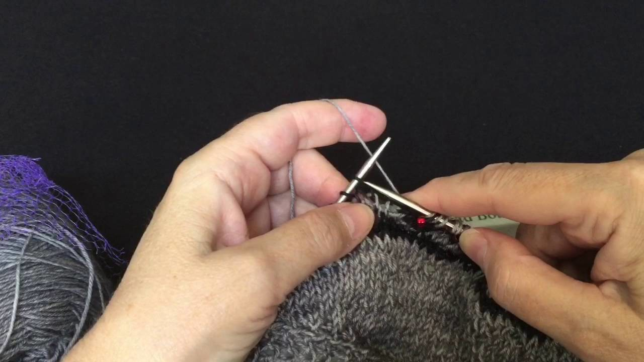 Placing Beads on Knitting Part II