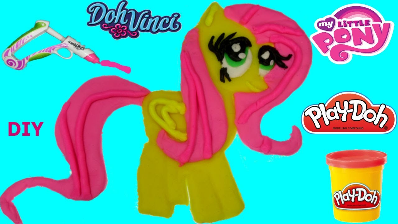 Play Doh My Littel Pony  DIY How to make Fluttershy Doh vinci