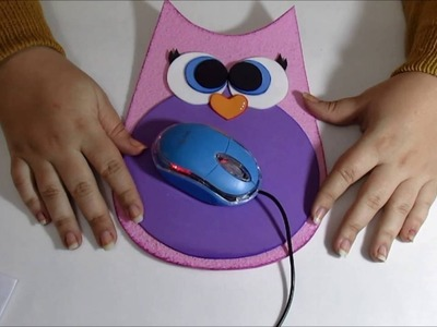 Tutorial Mouse Pad Coruja de Eva DIY