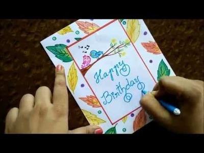 Very easy greeting card DIY|Beginners step by step guide|Speed Drawing