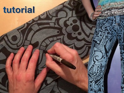 WIKarts Tutorial: How to Decorate Denim Jeans (or Jackets, Dresses, etc. )