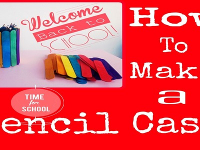 Wooden Colorful Sticks Pencil Case|Back to School Crafts Idea Recycle Old CAN Creative Idea for kids