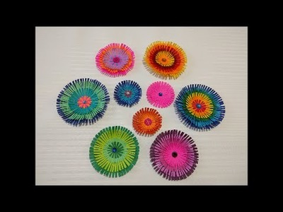 Art and Craft: How to make paper flower. Paper scrapebooking flower