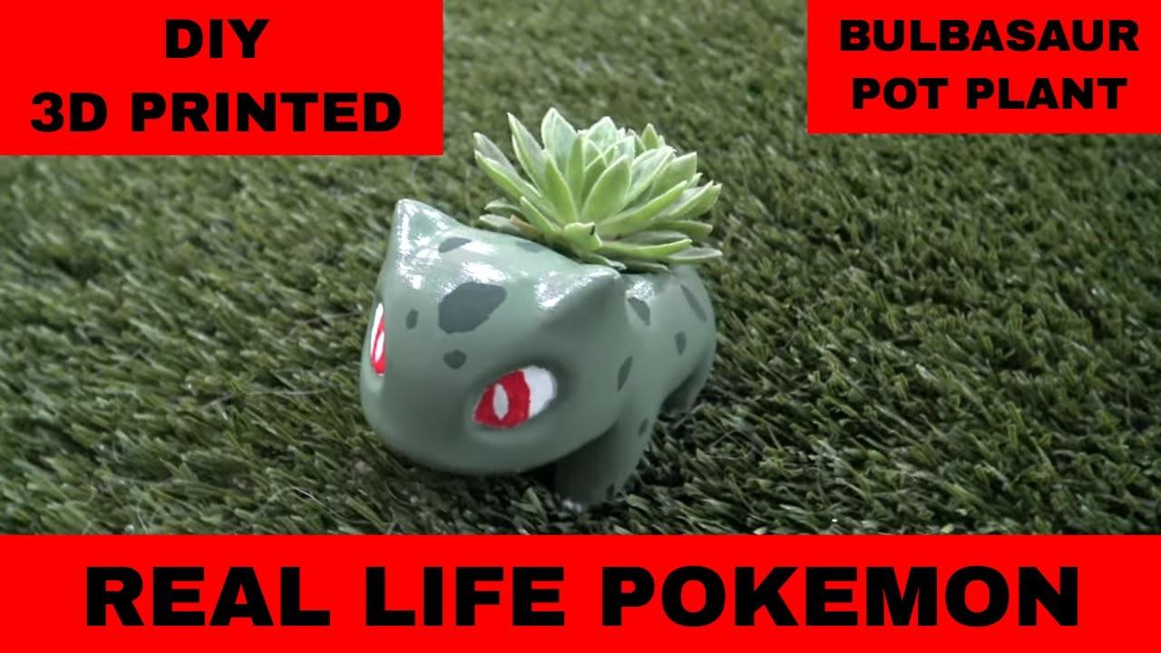 Cool Real Life Bulbasaur (3D printed pokemon pot plant) DIY How To