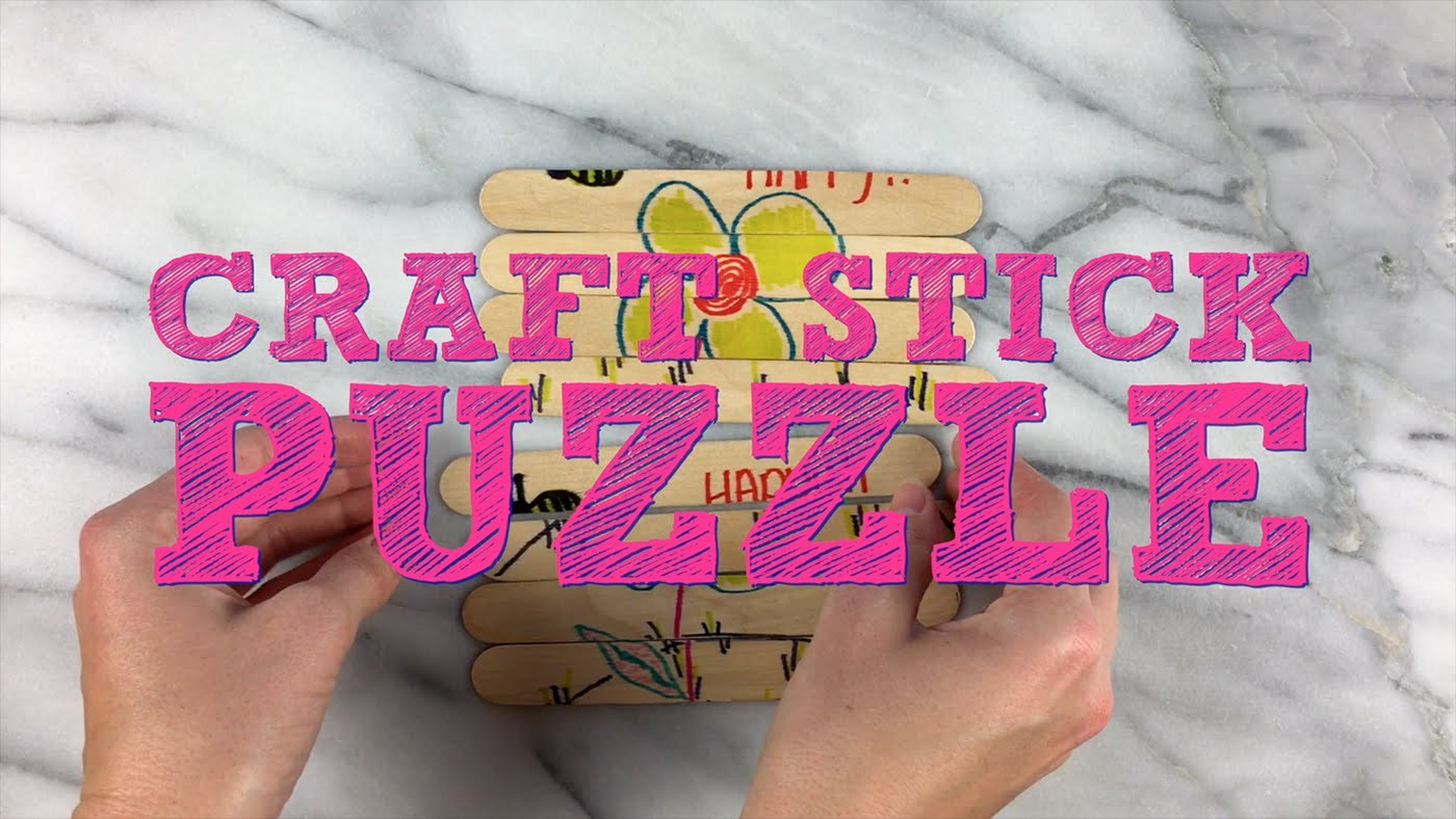 Craft Stick Puzzle Easy DIY Game for Kids!