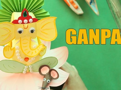 Crafting Ganpati | How To Make Ganesha From Paper Craft | DIY Eco Friendly Ganesha