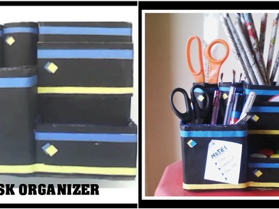 Desk Organizer using cell phone box || DIY Organizer || Best from Waste