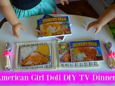 DIY American Girl Doll TV DINNERS | Craft VIdeo |  DIY Maryellen TV Dinners