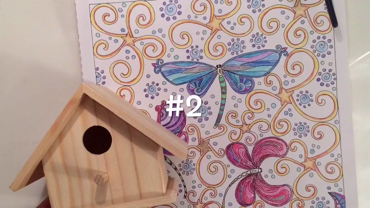 DIY Bird House Adult Coloring Pages. Crafts for After You've Colored Zen Book Crafty Conjuring