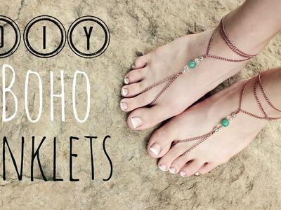 DIY Boho Anklets. DIY Boho Sandals. Veronica Marie