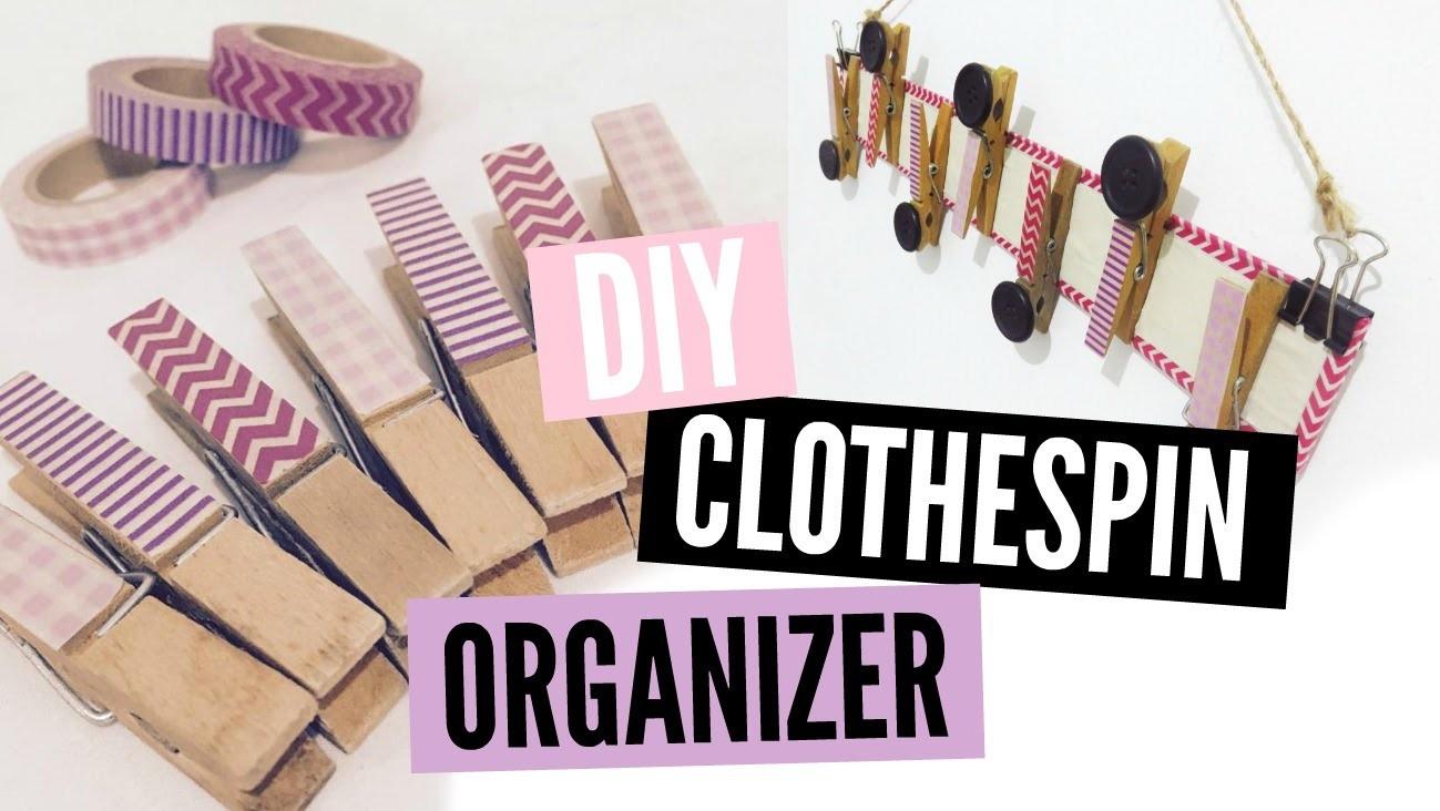 DIY Clothespin Organizer