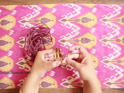 DIY Crafts, How to make a bracelet from simple accessories at home | Style Indi | Indi In The City
