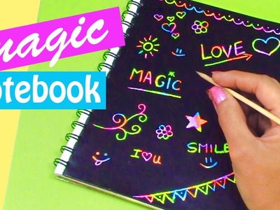 DIY crafts: MAGIC NOTEBOOK (Back to school) - Innova Crafts