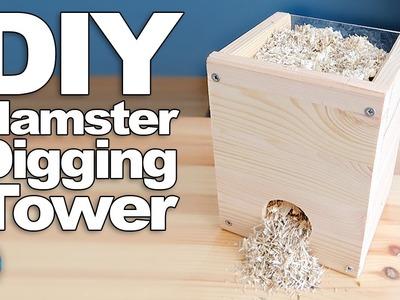 DIY Digging Tower For Hamsters