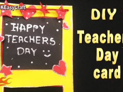 DIY Easy Chalkboard card for Teacher's day  | JK Easy Craft 190 #TeachersDay #GreetingCard