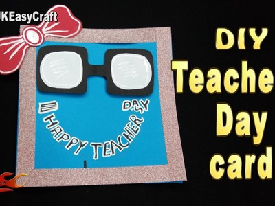 DIY Easy Chalkboard card for Teacher's day  | JK Easy Craft 191 #TeachersDay #GreetingCard