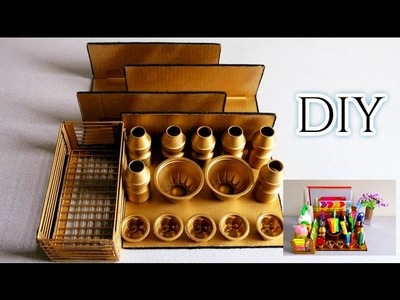 DIY Easy Desk Organizer * Recycled Craft